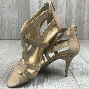Marc Fisher Taupe Tan Stiletto Heels Sandals